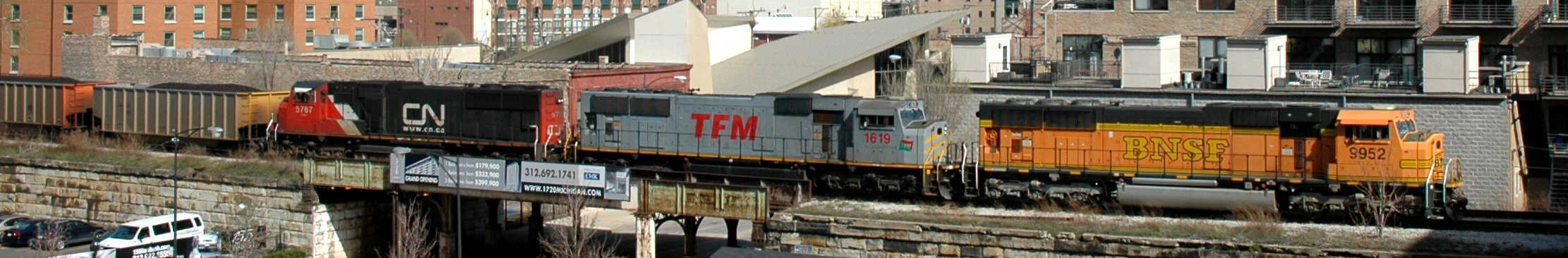 CN Freight Train - 16th St. Chicago