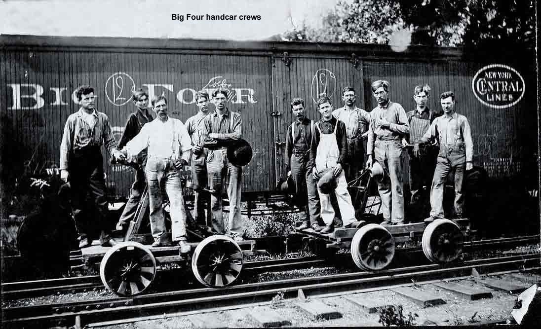 Big Four handcar crews.