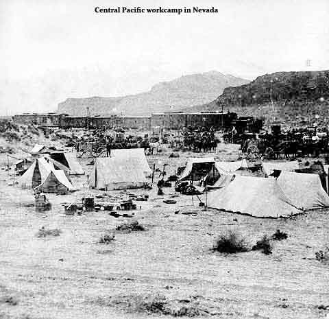 Central Pacific workcamp in Nevada