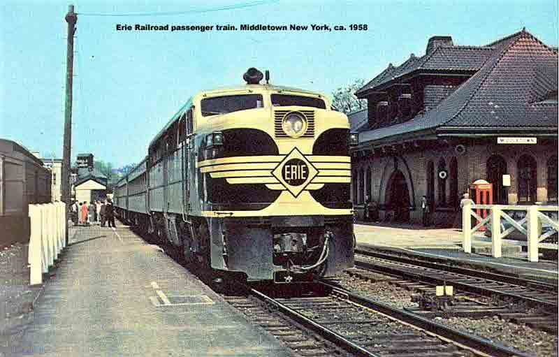 Erie passenger train
