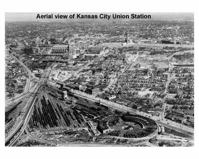 Aerial view of KC Union Station.