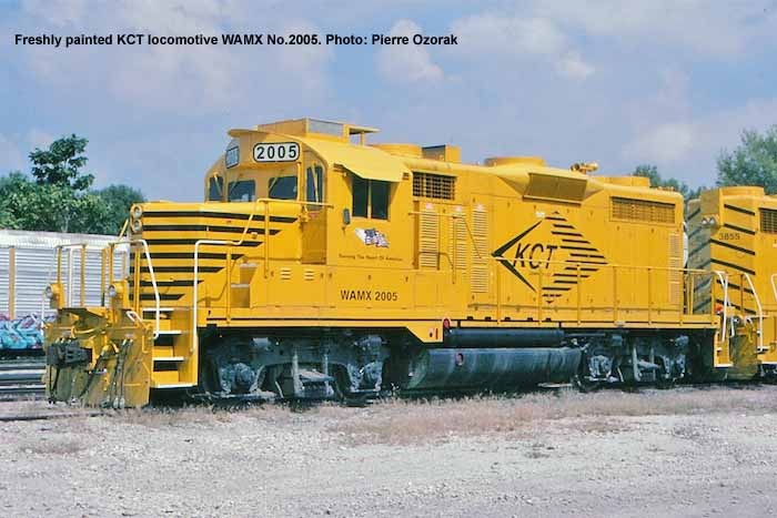 Freshly painted KCT locomotive WAMX No.2005