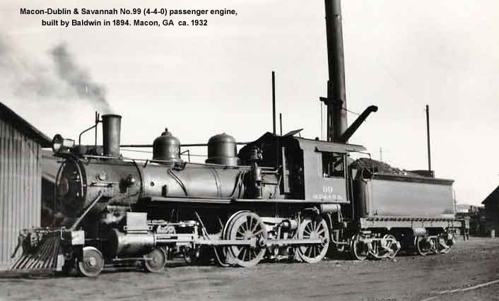 MD&S (4-4-0) No.99 passenger engine