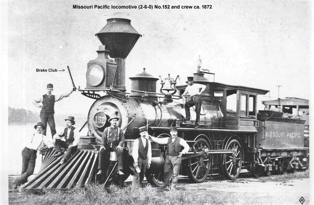 MoPac engine No.152 & crew