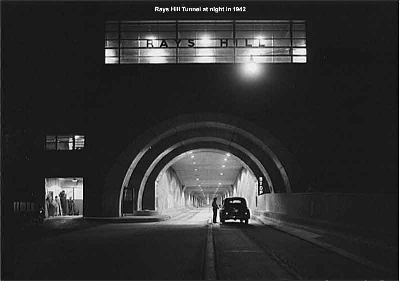 Rays Hill Tunnel at night in 1942