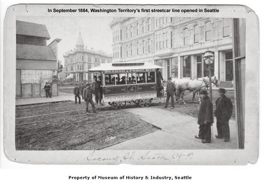 Washington Territory's first streetcar line