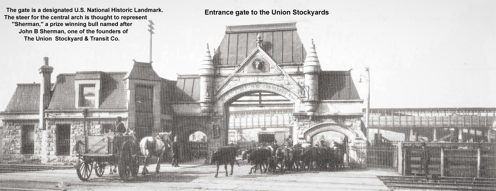 Chicago stockyard entrance
