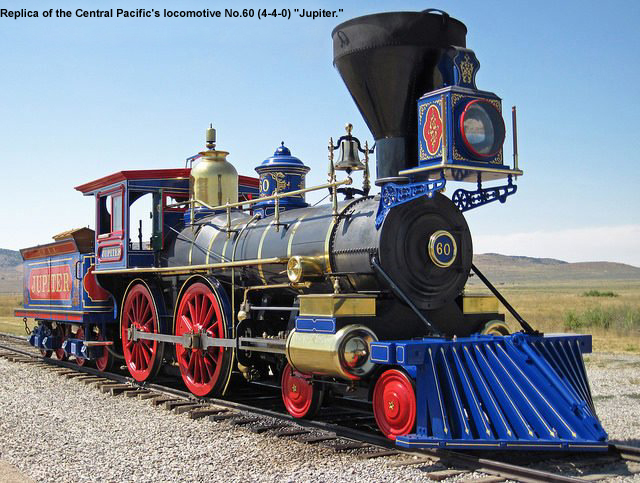 Replica-Central Pacific's (4-4-0) locomotive, Jupiter