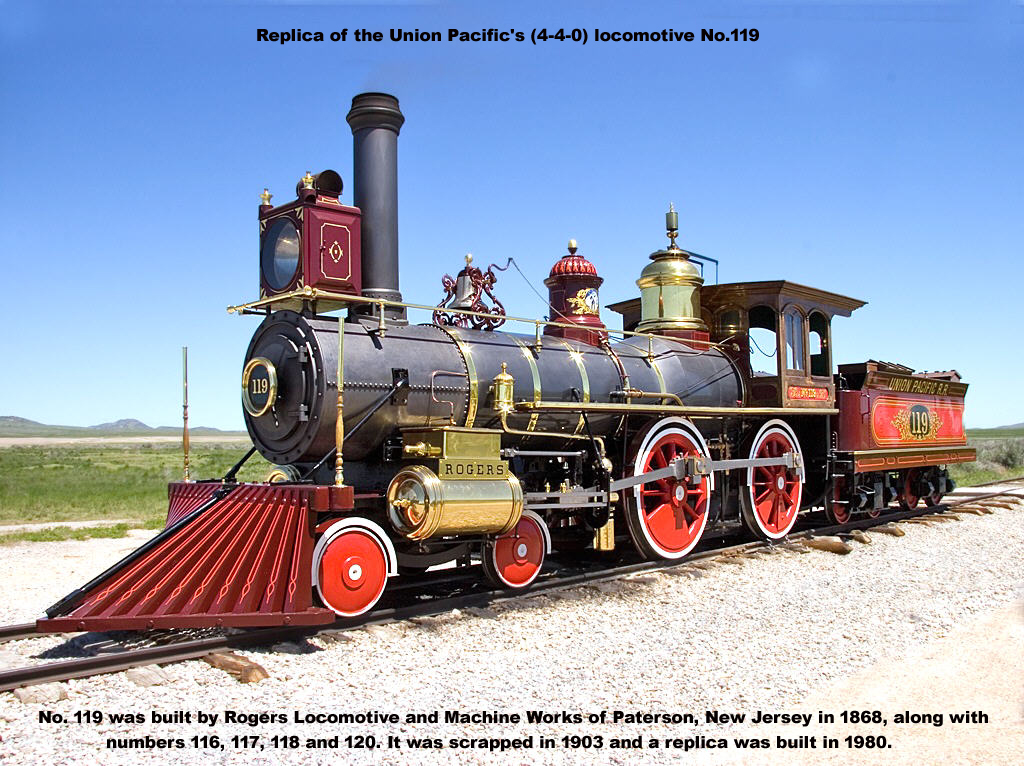 Replica of UP's locomotive UP-119