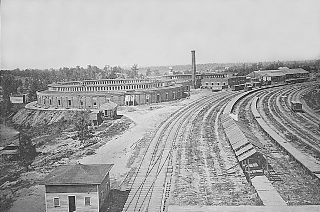 The Chattanooga R.R. roundhouse, Atlanta.