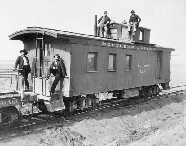 Northern Pacific Ry caboose