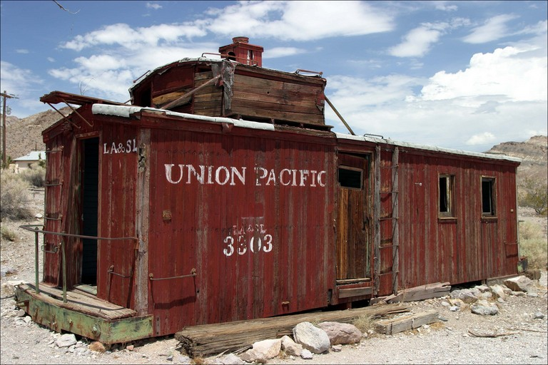 Ruins of UP caboose