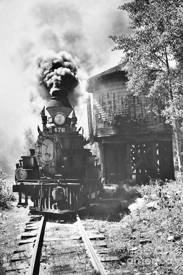Colorado Train Greeting Card by Myron Wood and Photo Researchers