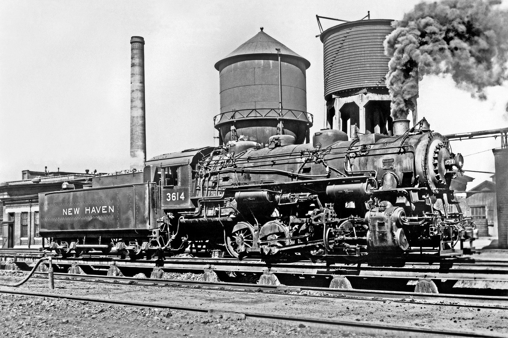 New Haven Railroad coal burning steam switcher No.3614