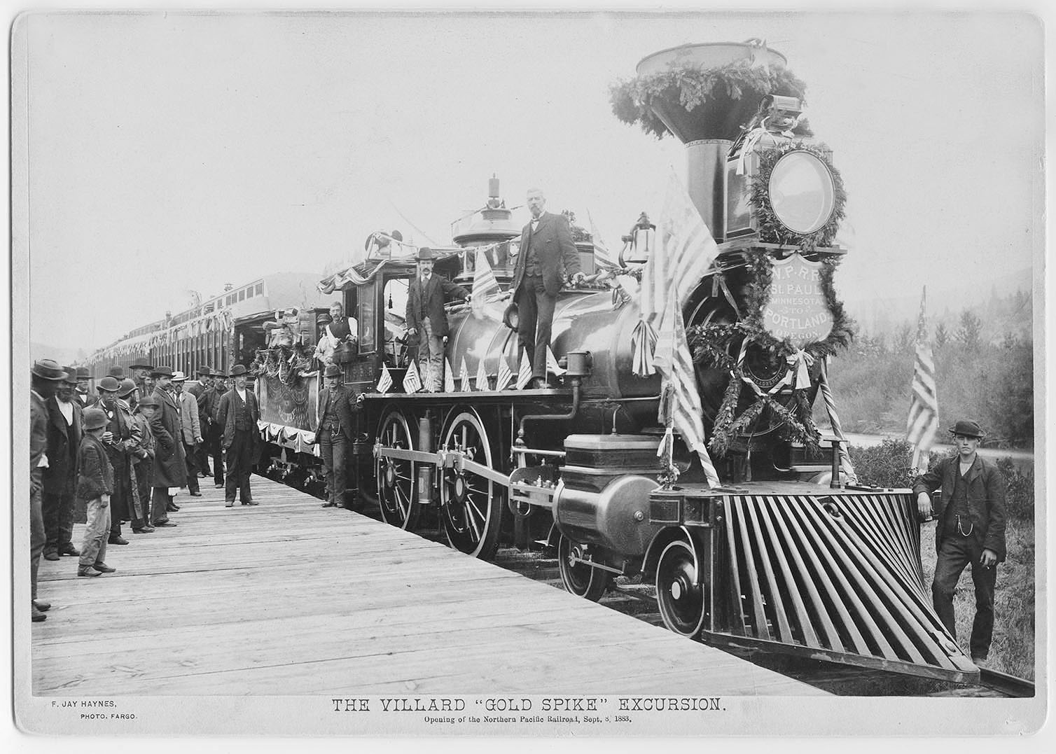 ept. 8th, 1883. Opening of the Northern Pacific Railroad.